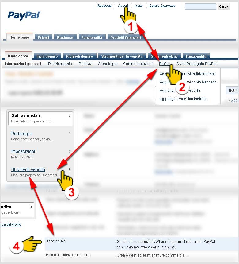 Procedura PayPal Express Checkout
