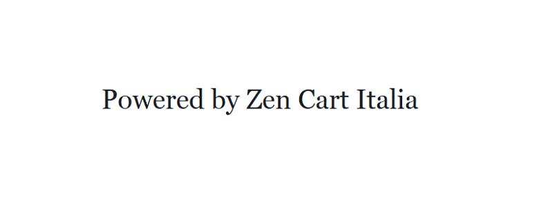 powered by zen cart italia